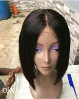 Human hair wig with closure