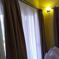 Curtains and sheers.
