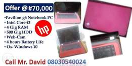 Hp paivilion g6 Notebook PC