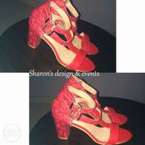female red sandal
