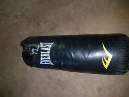 Everlast boxing bag and accressories