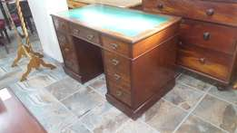 Victorian Leather-top Desk