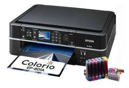 Multifunctional Epson EP-801A photo printer