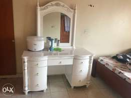 bed and dressing table