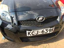 Black, Clean 2009 Vitz. Push Start with 6 SRS Airbags
