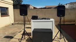 Set up for events/plus a free professional Dj
