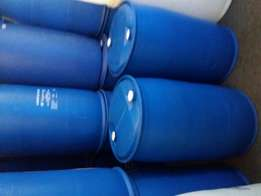 Blue plastic drums for water