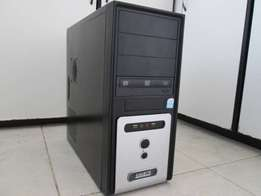 Dual Core tower only for sale comes fully loaded with windows 7 micro