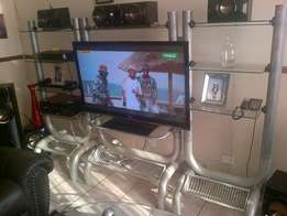 3 Piece Glass TV Stand in good condition