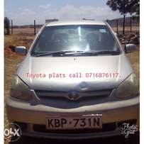 Toyota Plats. Call NUMBER on picture.