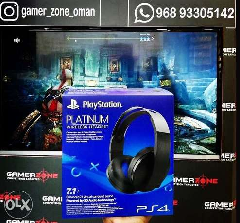 Sony platinum headset now available at Gamerzone