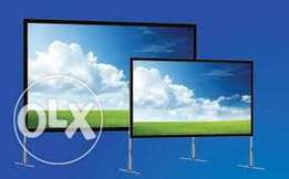 Hire of Rear Projection Screen-Portable