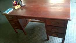 Cherry wood office desk