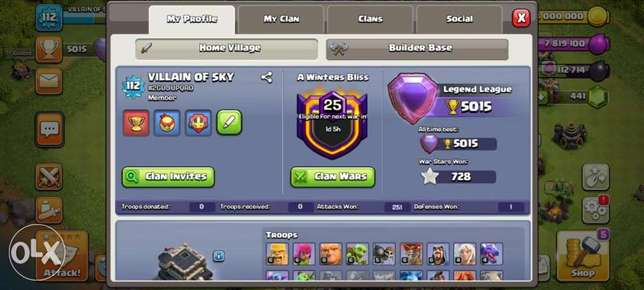 Clash of clans town hall 9 with legend league