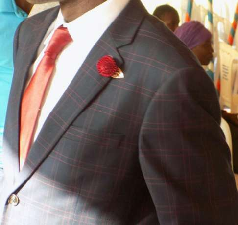 Navy Blue Checked suits for men. Smoothly polished wool. FREE DELIVERY Nairobi CBD - image 2
