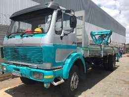 1994 Mercedes Benz 2629 Flat Bed Truck with Rear Crane