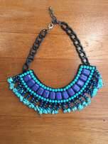 Blue and Turkoois necklace