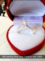 Pure silver Engagement ring for her