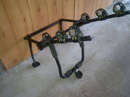 Holdfast 4x4 Bike rack which fits over the spare wheel carried on the