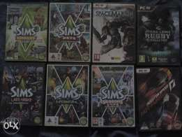 8×Second hand pc games but still in good condition