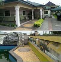4bedroom bungalow with swimming pool for sale at rukpokwu port harcour