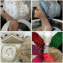 Exquisite quality turbans, head wrap and already tied gele