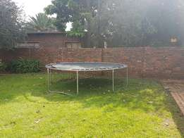 Jungle gym and trampoline for sale