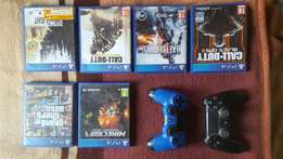 Playstation 4 games and remotes