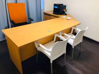 L Shape Office Desk With Cabinet For