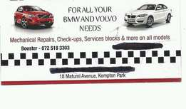 bmw and volvo specialist and diagnostics to all cars