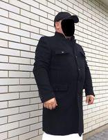мужское пальто Zara Португалия новое чоловіче чорное шерсть XXL 44р 8f60a57c331d0