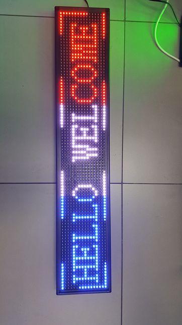 Bardzo dobra Tablica led * świetlna *reklama * niebieska *mix kolorów *zielona YR84