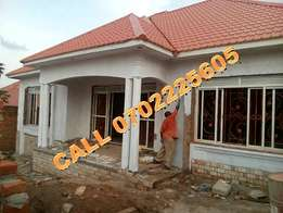 Waterfront 4 bedroom shell house bungalow for sale in Kiira at 150m