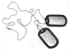 Original military dog tags from UK
