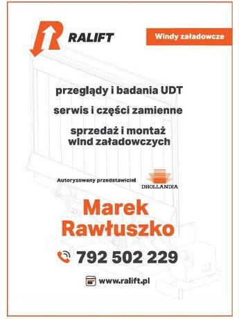 Bardzo dobryFantastyczny RALIFT Marek Rawłuszko Windy załadowcze UDT, Serwis, Sprzedaż MB69