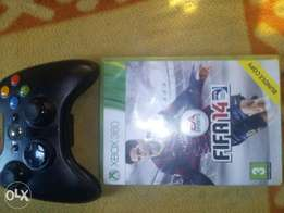 Xbox 360pad and FIFA 2014 with glo modem for sale
