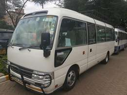 Coaster and Rosa Shuttle bus for hire