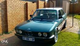 BMW e28 525i to sell R65.000 or swop