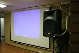 Projector, PA System, Photography, Video Production, Live Video Feeds