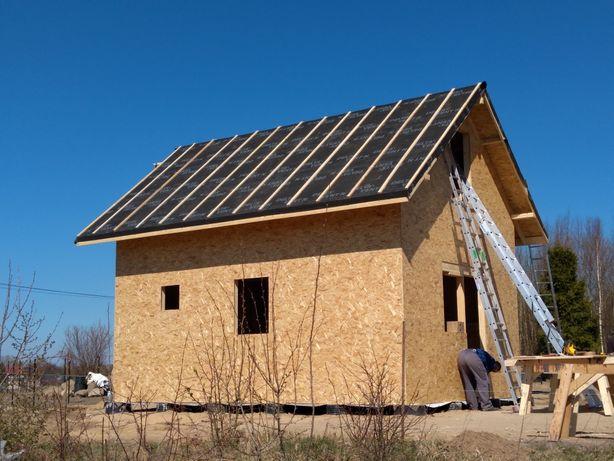 Domek Letniskowy Szkielet Domku Domu Dom Drewniany Konstrukcja