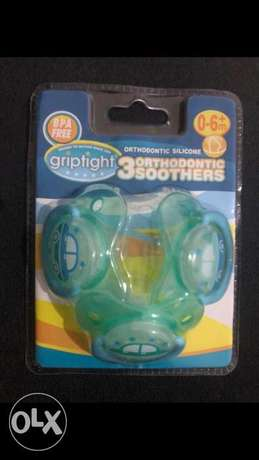 Soothers 3 pack 0-6 months 50,000 LBP