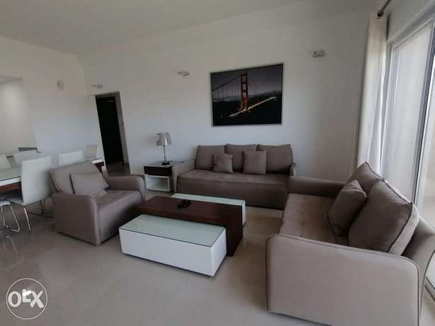 Modern 2 BR FF Apartment+Balcony in Amwaj Island For Rent