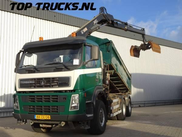 Terberg FM1350 WD, 6x6 Kipper, Tipper, Hiab 12 TM Kraan, Crane, Kran - 2006
