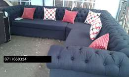 Ready 8 seater deep buttoned sofa