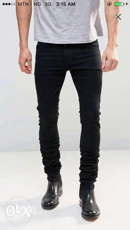 Men's Denim black skinny jeans in stretch(New) Ilorin West - image 1