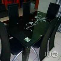 Durable Six Seater Dining Table With Chairs