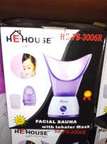 Facial sauna plus inhaler mask