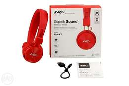 NIA X3 Wireless Headphone (Superb Sound 4 in 1) Red
