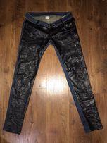 Джинсы кожаные штаны с перфорацией 44 размер 000327df6046c