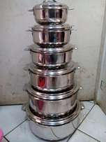 Stainless Steel Hot pots (6 pieces)